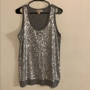 MICHEAL KOR'S gray sequin sweater tank size L.